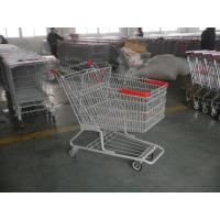 Buy cheap Singel Basket Supermarket Shopping Cart With Low Rack Welded product