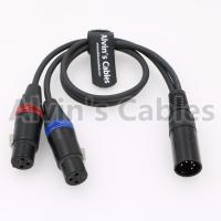 Buy cheap Dual Track Audio Arri Power Cable XLR 5 Pin Male To 2 XLRs 3 Pin Female product