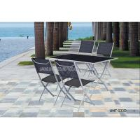 Buy cheap Aluminium Outdoor Bistro Table And Chairs / Dining Furniture Sets UV Resistant from wholesalers