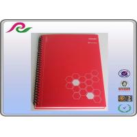 Buy cheap red Recyclable stone paper A5 spiral office notebooks of PP Cover product