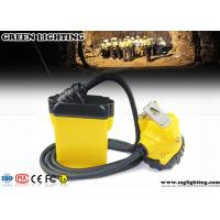 Buy cheap 10.4AH Coal Miner Hard Hat LightCorded Style 25000 Lux Strong Brightness product
