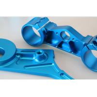 Buy cheap Precision Mechanical Parts Recommended Drilling Motorcycle Parts with Blue Anodize from wholesalers