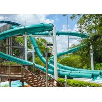 Adults Outdoor Spiral Water Slide 4 Riders Load For Water Sport Games