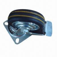Buy cheap Black Rubber Caster with Rolling Bearing and Steel Hub product