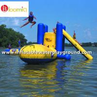 China Outdoor Large Inflatable Water Sports With Climb , Slide And Launch Bag on sale