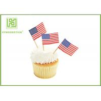 Buy cheap Colorful Food Grade Cake Decoration Toppers Flag Food Picks For Holidays product