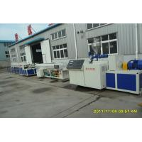 Buy cheap PP PE PVC Plastic Pipe Extrusion Line With ABB Frequency Control from wholesalers