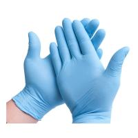 Buy cheap Great Elasticity Disposable Medical Glove 0.03kg Smooth Surface Natural Latex product