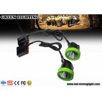 Buy cheap Rechargeable Mining Cap Lights , LED Mining Helmet Lights With CE , ATEX , EXIBII MI Approved product