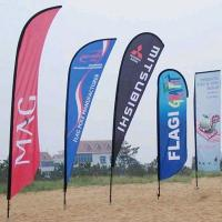 Buy cheap Durable custom feather flags double sided Full Color Imprints product