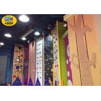 China Commercial Indoor Kids Rock Climbing Wall High Strength Steel Frame And Plate on sale