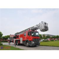 Buy cheap 6x4 Drive Aerial Ladder Fire Truck Short Adjustment Time 30.7 Meters Max Height product