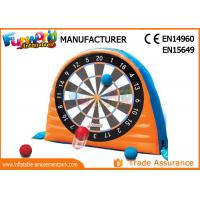 Buy cheap Giant Interactive Inflatable Sticky Dart Board WIith Silk Printing product