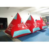 Buy cheap Safety Red Pyramid Inflatable Water Buoy Markers Customized Size EN14960 Approved product