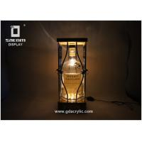 Buy cheap Adjustable Brightness Bottle Glorifier Natural Bamboo Metal Product Glorifier from wholesalers