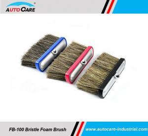 Buy cheap 100% Hog Hair Car Wash Foam Brush with Aluminium head /  Soft Bristle Shampoo brushes hot sales to America product