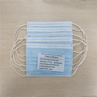 Buy cheap Comfortable Disposable Earloop 3 Ply Non Woven Face Mask Soft Lining product