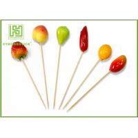 Buy cheap Fruit Decorative Food Toothpicks New Style Christmas Fruit Skewers 15cm Size product