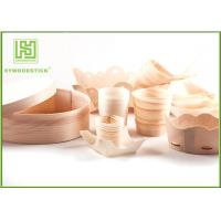 Buy cheap Pine / Poplar Wooden Sushi Boat / Cups For Restaurant Different Shape Size product