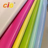 Buy cheap Synthetic PU Leather Garments Leather Fabric Pearly Colors Width 150CM product