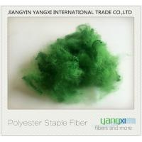 Buy cheap Verde Pino Dyed Recycled Polyester Fiber Good Color Fastness Easy To Spinning product