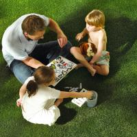 Buy cheap Fake Grass For Play Area Parvis Backyard Customized Size Easy Keeping product