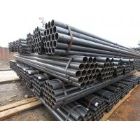 China Cold Rolled Welded Line Pipe , Q195 / Q235 Underground 4 Inch Black Steel Pipe on sale