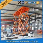 Buy cheap 10T 8M Heavy Loading Material Lift Warehouse Stationary Hydraulic Scissor Lift CE TUV SGS product