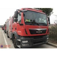 Quality 4x2 Drive 6 Cylinder Diesel Engine Aerial Ladder Fire Truck 8650 * 2450 * 3500mm for sale