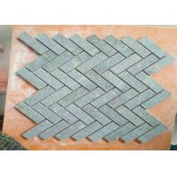 Buy cheap Kitchen Natural Stone Floor Tiles , Marble Herringbone Mosaic Tile 1 X 3 Chip Size product