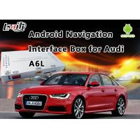 China MirrorLink Android 6.0 Car GPS Navigation for Audi A6L 2010 - 2015 with 3G MMI System Support DVD / TV on sale