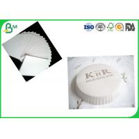 Buy cheap SGS Certification 350g White Uncoated Woodfree Paper / Absorbent Cardboard Paper For Cooling Pads Production product