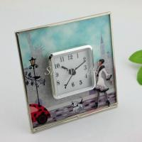 China Shinny Gifts Fashion Simple Design On/Off On top Desk Clock Home Decorative on sale