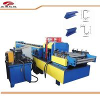 Buy cheap Blue C Purlin Sheet Metal Roll Forming Machine 80mm Shaft Dia 1.5mm-3.2mm Thickness product