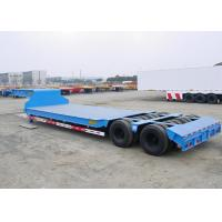 Buy cheap Swivel Axles Low Bed Semi Trailer For Heavy Machine Transport 30T-150T product