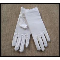 Buy cheap Wholesale top quality white/black color spandex gloves for jewerllery/Ceremonial product