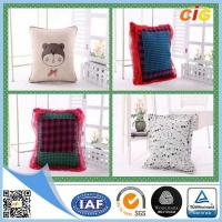 Quality Polyester Fabric Washable Car / Sofa Seat Cushion Covers With Filling for Home for sale