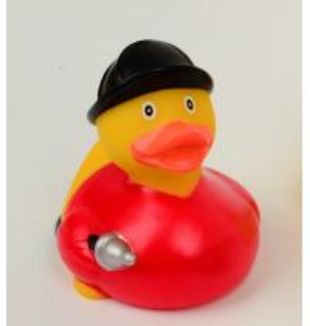 Firefighter Fireman Mini Rubber Ducks / Promotional Personalised Rubber Bath Ducks