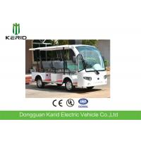 China 3 Rows Safa Seats Small Electric Shuttle Bus With MP3 Player Alloy Rim For Hotel on sale