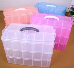 Buy cheap Parts Stocker Organizer PP Plastic Storage Box, pp EVA plastic adjustable plastic storage box, PLASTIC MESS ARTICLE TABL product