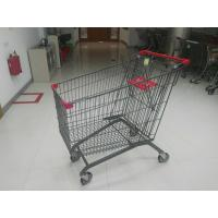 China Supermarket 270L European Design Steel Shopping Carts With PPG Powder on sale
