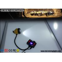 Buy cheap 28000 Lux 3W IP68 Waterproof Mining Cap Lights with Warning Light Battery Box product