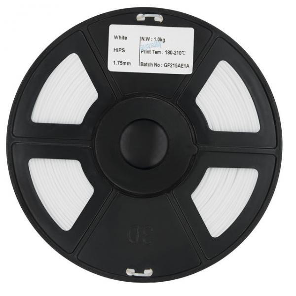 Quality Honplas Plastic Rods High Definition 1.75mm 1kg 3kg White HIPS Filament for 3D Printer for sale