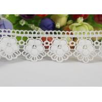 Buy cheap Water Soluble Chemical Polyester lace ribbon trim For Gilr Dress Vintage Off White product