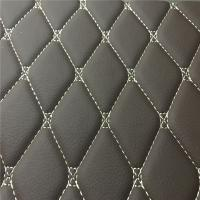 Quality Embroidery PU PVC Artificial Leather With High Density Foam For Car Seat Car for sale