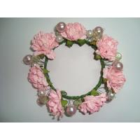 Buy cheap Pink Rose Artificial Decorative Flowers Christmas Garlands and Wreaths for Wedding product