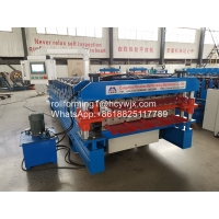 Buy cheap Aluminum Roofing Sheet Roll Forming Machine Double Layer Metal Tile Making Machine product