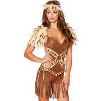 Buy cheap Halloween Outfits Native Warrior Costume With Romper , Head Band , Fur Shoulders product