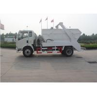 Six Wheels Swept Body Arm Roll Garbage Truck , 4x2 5 - 6CBM Waste Container Truck