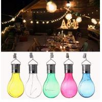 Buy cheap Solar Powered Camping Hanging LED Light Bulb Waterproof for Outdoor Garden Yard - Green product